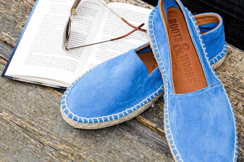 Azuur blauwe Espadrilles van Bootsandwoods uit spanje